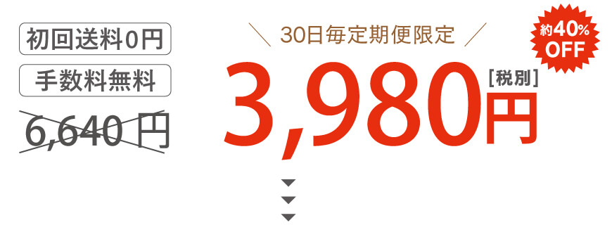 1袋定期便3,980円